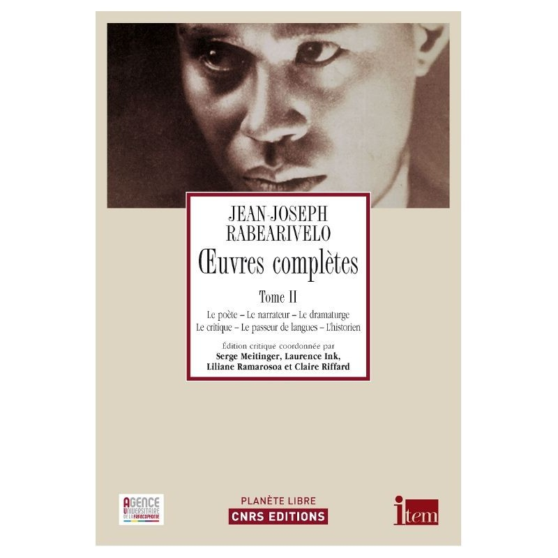 LIVRE Oeuvres complètes, tome 2 - JJ Rabearivelo