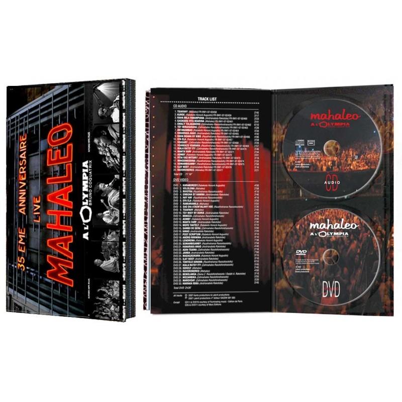 LONGBOX DVD + CD Mahaleo Live a l'Olympia